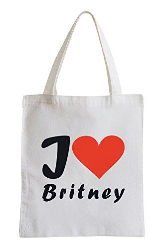 I Love Britney Fun Sac de Jute