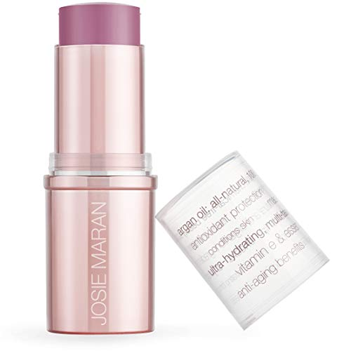 Josie Maran Argan Color Stick - Lip and Cheek Multitasker That Leaves a Natural Rosy Glow - Infused with Vitamins and Antioxidants (16g/0.55oz, Pink Picnic)