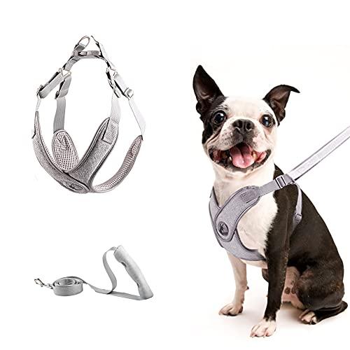 Hundegeschirr für Mittlere Kleine Hunde Welpen Haustier (3,5-7,5 kg), No Pull Atmungsaktiv Brustgeschirr Mesh Brustgeschirr, reflektierend Verstellbare Softgeschirr