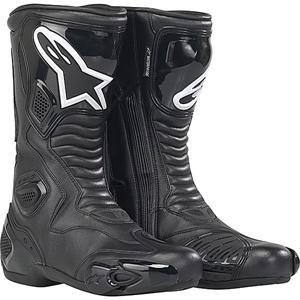 Alpinestars S-MX 5 Boots , Distinct Name: Black, Gender: Mens/Unisex, Size: 9.5, Primary Color: Black 2223091044