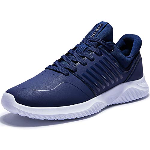 CAMELSPORTS Men's Running Shoes Lightweight Athletic Sneakers Shockproof Sport Walking Shoes for Tennis, Gym, Outdoor, Training, Casual Blue