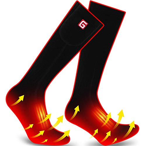 QILOVE Electric Heated Socks,Battery Operated Heating Sox Men Women Foot Warmers Hunting Skiing Hiking Camping Sock