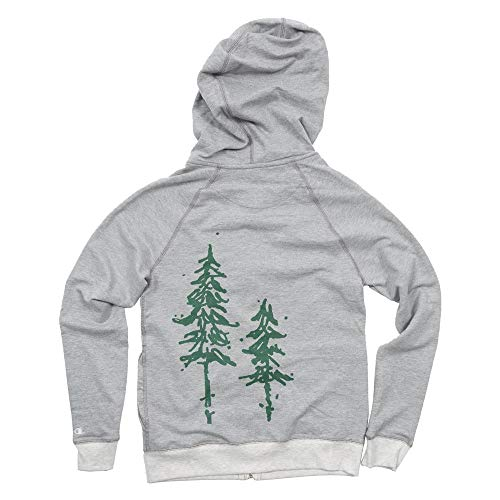 Pine Trees Women's French Terry Knit Zip-Up Hoodie