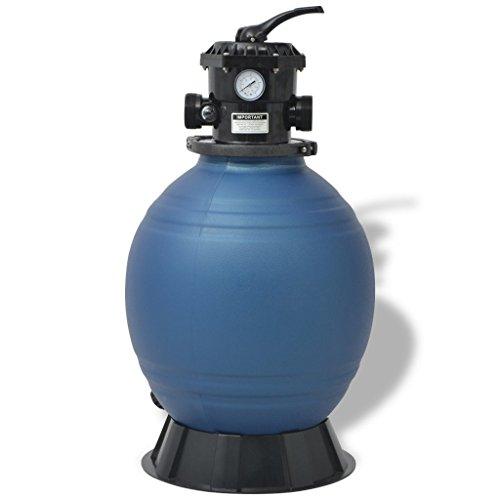 Festnight Rund Sandfilter 18 Zoll/460 mm Filter für Schwimmbadpumpen - Blau