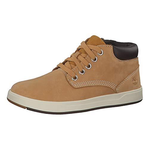 Timberland Unisex-Kinder Davis Square Leather Chukka Boots, Gelb (Wheat), 31 EU
