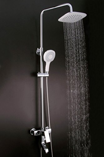 Grifo mezclador de lavabo, grifo de lavabo moderno con cuerpo de latón y parte superior redonda de cobre para ducha y baño termostático frío y caliente