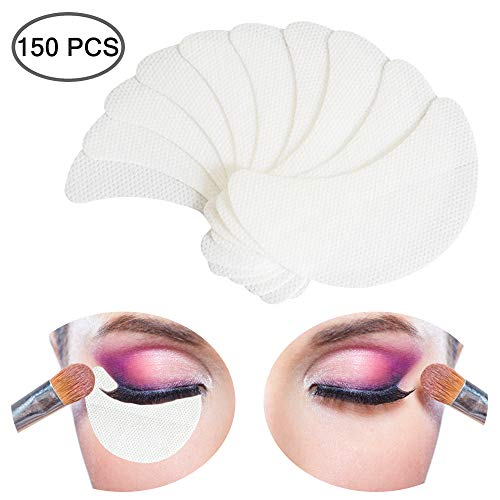150 Stück Lidschatten-Schablonen-Pads, YuCool Lidschatten-Shields, fusselfrei unter Patches für Wimpernverlängerung, Tönung und Lippen-Make-up-Rückstände