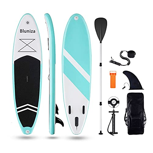 Inflatable Stand Up Paddle Board, 10' x 30'' x 6'' Durable Lightweight Touring ISUP, All-inclusive...