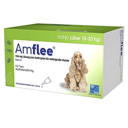AMFLEE 134 mg Spot-on Lsg.f.mittelgr.Hunde 10-20kg 6 St Lösung
