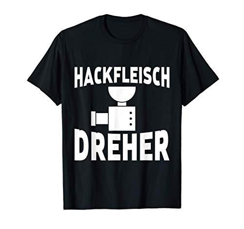 Herren Fleischer Schlachter Fleischwolf Spruch Metzger T-Shirt