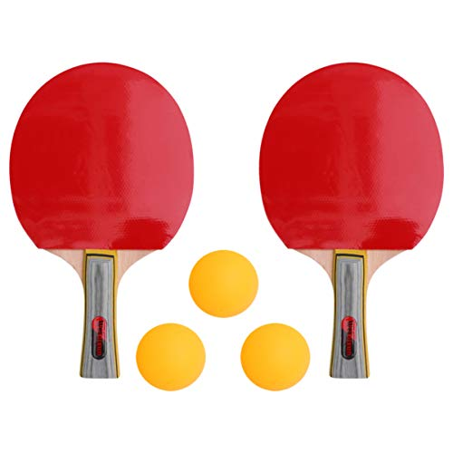 Lowest Prices! BESPORTBLE 2 Set Table Tennis Racket with Tennis Balls Plastic Children Practice Trai...