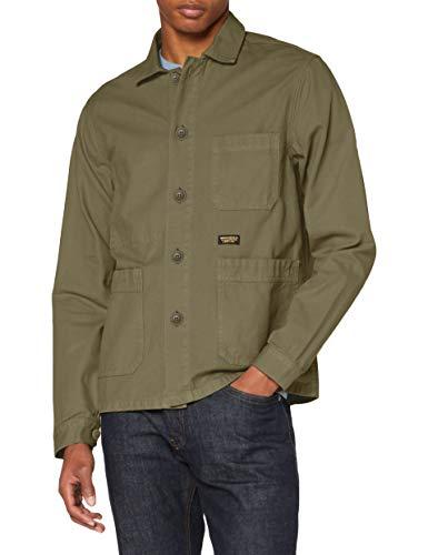 Superdry Utl Worker Jacket Chaqueta, Verde (Fir Green Ie0), L para Hombre