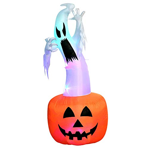 Yimixz 1.8m Inflatable Mold Halloween Hunting Ghost Blowing Up Yard Decor Indoor Outdoor Decoration