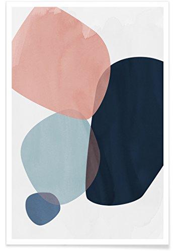 """JUNIQE® Abstrakt & Geometrisch Poster 20x30cm - Design """"Graphic 150 H"""" entworfen von Mareike Böhmer"""