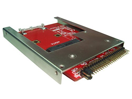 Ableconn IIDE-MSAT mSATA SSD to 2.5-Inch IDE Adapter Converter with Aluminum Frame Bracket - Latch and Retain mSATA SSD as 9.5mm 2.5' IDE SSD Drive