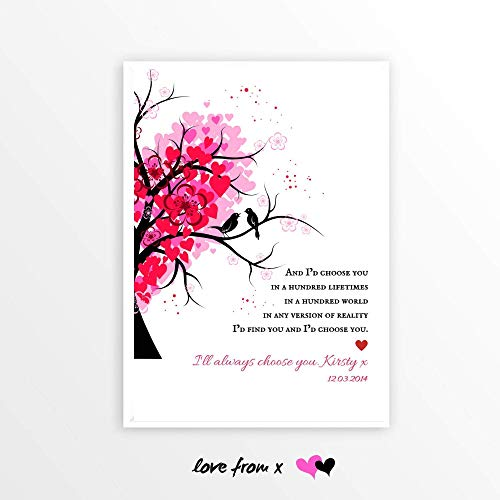 Wedding Day Poem | Personalized Gift | 1st 2nd 3rd 4th 5th 6th 7th 10th Anniversary Gift | I'D CHOOSE YOU Poem | Printable | INSTANT DOWNLOAD | WED1_6
