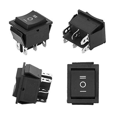 KUIDAMOS Interruptor basculante KCD4 de plástico Conveniente de 6 Pines para Interruptor de electrodomésticos KCD4
