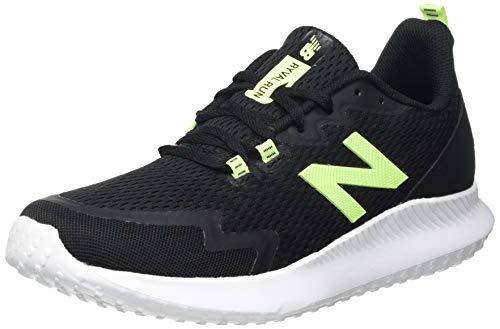 New Balance Ryval Run, Zapatillas para Correr de Carretera Hombre, Black/Green, 50 EU