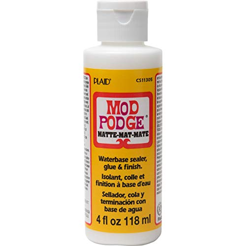 Mod Podge CS11305 Waterbase Sealer, Glue & Decoupage Finish, 4 oz, Matte