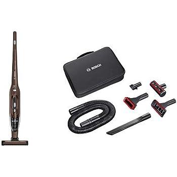 Pack Bosch BBH218LTD Readyyy 2-in-1 + Kit de accesorios Home and Car - Aspirador escoba vertical sin cable y de mano, autonomía hasta 40 min, batería Ion-Litio 18V, color marrón chocolate metalizado: