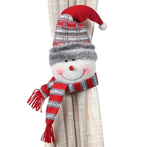 Balock Weihnachtsdekoration Vorhangschnalle | Weihnachten Gummiband Vorhang Schnalle Fenster Dekoration | Kreative Cartoon Weihnachts Serie Vorhang Schnalle | für Wohnzimmer,Schlafzimmer (B)