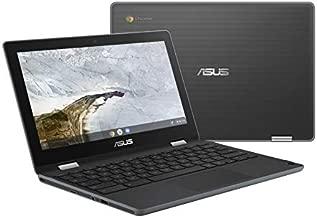 "ASUS Chromebook Flip C214 2-In-1 Laptop- 11.6"" Ruggedized and Spill Resistant 360 Degree Touchscreen, Intel Celeron N4000, 4GB LPDDR4 RAM, 32GB Storage, HD 5M Pixel Camera, Chrome OS- C214MA-YS02T"