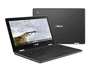 """ASUS Chromebook Flip C214 2-In-1 Laptop-11.6"""" Ruggedized and Spill Resistant Design with 360 Degree Touchscreen, Intel N4000, 4GB LPDDR4 RAM, 32GB Storage, Chrome OS, Built-In Stylus- C214MA-YS02T-S (B07NB211TL) 
