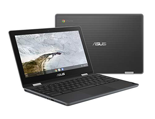 "Asus Chromebook Flip C214MA-YS02T-S Ruggedized and Water Resistant Chromebook Laptop, 11.6"" 360 Touchscreen 2 in 1, Intel N4000, 4GB LPDDR4 RAM, 32GB Storage, Mil-Std 810G Design, Chrome OS, Stylus"