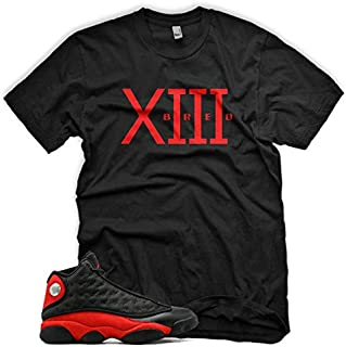 New Bred XIII T Shirt inspired by Air Jordan Bred 13 1 3 4 5 6 7 8 9 10 11 12 14