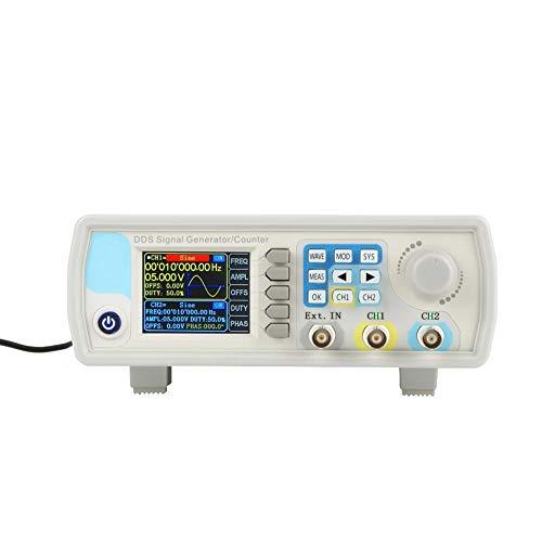 Akozon DDS Signal Generator Zähler,JDS6600 15MHz - 60MHz Digital Doppelkanal Arbitrary Wellenform Funktions Generator FrequenzMeter 266MSa/s Funktionsgenerator von Sinus/Dreieck/Quadrat(15MHz EU)