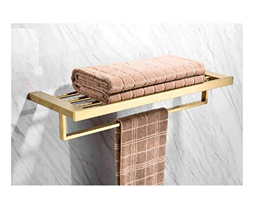 LIYONG Handtuch Schienen Badezimmer Handtuch Bar, Handtuch Rack Badezimmerregal Badezimmer Hardware Zubehör Handtuchhalter Handtuchständer (Farbe HLSJ (Color : C, Size : 60cm)