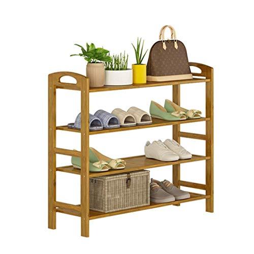 MFWallMirror Schoenenkast, 70 cm breed, opbergruimte voor schoenen en schoenen, afzonderlijk bamboehout, ruimtebesparend, draagbaar
