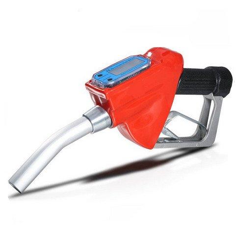 Nuzamas - Pistola dispensadora de combustible, boquilla dispensadora de gasolina, diésel y aceite con medidor de flujo, 2,5 cm, 25 cm