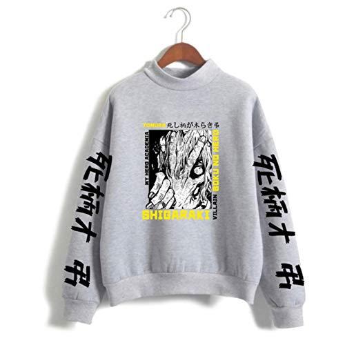 2021 My Hero Academia Rollkragen Sweatshirt Mode Shigaraki Tomura Print Pullover Oversize Sweatshirt Damen Gr. XXXL, deep purple