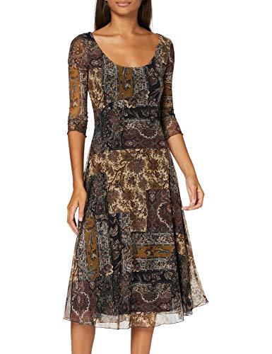 Desigual Vest_Kerala Vestido Casual, marrón, L para Mujer