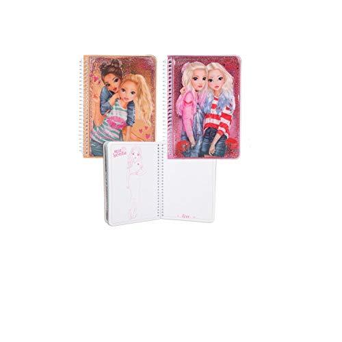 Top model – Juego de dos cuadernos con líquido y purpurina – (17 x 12,5 x 1,5 cm)