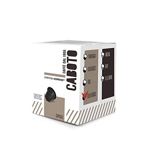 Caffè Caboto Tostato Artigianalmente - 100 Capsule compatibili Nespresso - Miscela Decaffeinato