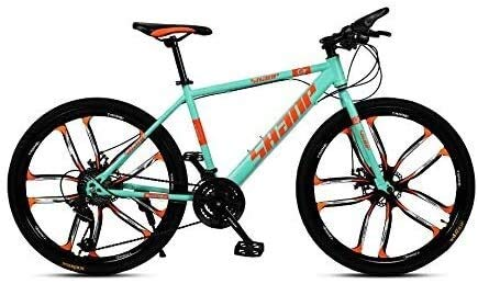 LAMTON Elektro-Bike 26 Zoll Folding Fat Tire Bike Schnee Mountain Bikes, Herrendoppelscheibenbremse Hardtail Mountainbike, Fahrrad Adjustable Seat, High-Carbon Stahlrahmen E-Bike