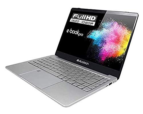 Notebook Microtech Pro SSD, Ultraleggero 1,4Kg, Cpu Intel dual Core N4000 2,6 GHz 64bit ,Display 14,1'Ips Full Hd, Bezel Less, SSD 256Gb, Ddr4Gb, Win10 Pro, Pronto All'uso,Layout e Garanzia Italia