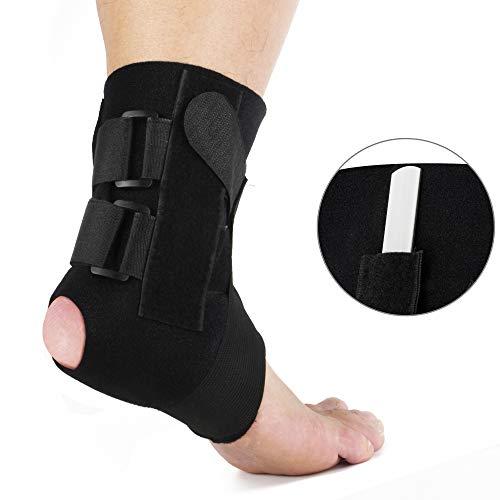 REAQER Sprunggelenkbandage Stabilisator Knöchelbandage Brace Support mit Entfernbar Schiene Hilft Verstauchungen zu Verhindern oder Sich von Diesen zu Erholen