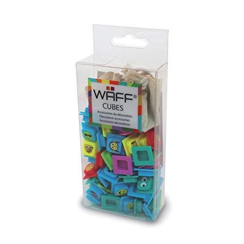 Waff Cubes - Box, 100 delen Emoji multicolor