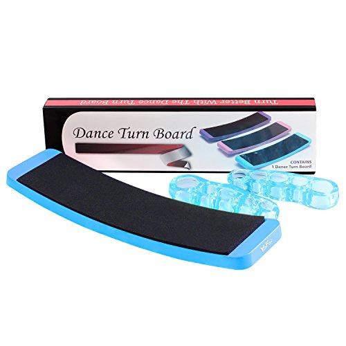Yafex Ballett-Pirouetten-Drehscheibe, Tanzausrüstung, Drehscheibe mit einem Paar Zehenspreizer, tolles Geschenk für angehende Tänzerin, blau