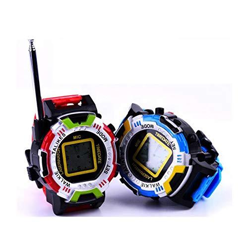 ZMH 2 Manera walkie talkies Relojes walkie Talkie 7 en 1 niños Reloj Radio al Aire Libre Interphone Juguete Regalo para Chirlden 2 Piezas