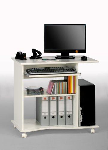 MAJA-Möbel 4024 5535 Computertisch, weiß uni, Abmessungen BxHxT: 80 x 75 x 50 cm