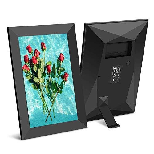 8 tums WiFi digital fotoram - svart digital bildram 1280 * 800 IPS pekskärm HD-skärm - 16 GB lagring/automatisk rotering/Dela foton via app, e-post, molngåva