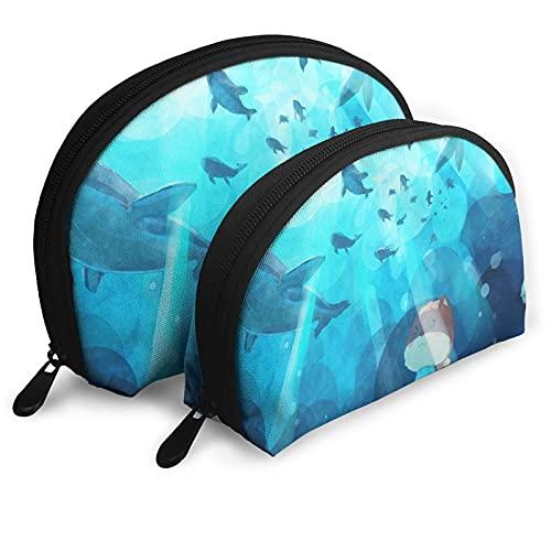 Tres lindas bolsas de almacenamiento S-qu-ir-rels Shell bolsa de almacenamiento bolsa de lavado bolsa de cosméticos para viajes y vida diaria