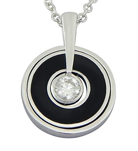 puissant Hanessa 925 Bijoux plaqués rhodium, collier Chaînes et pendentifs en argent véritable…