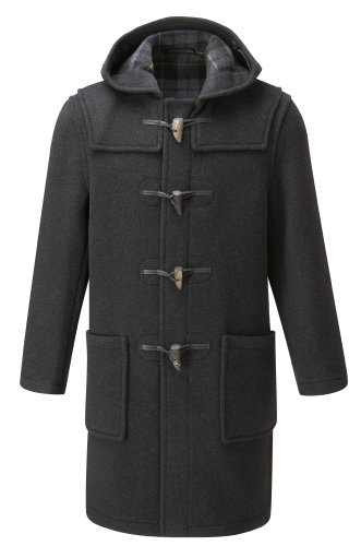 Original Montgomery Mens Duffle Coat (Size 44, Charcoal)