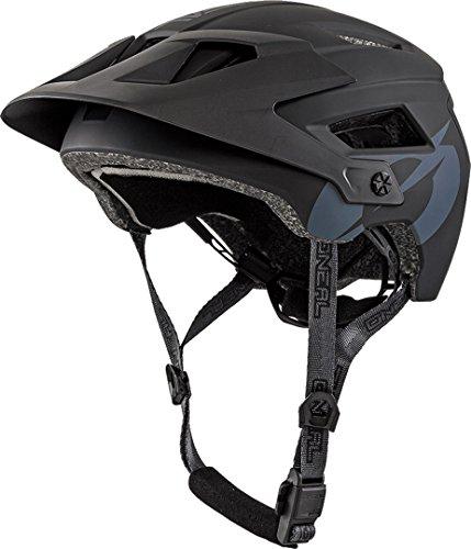 O'NEAL | Mountainbike-Helm | Enduro All-Mountain | Belüftungsöffnungen zur Kühlung, Polster waschbar, Sicherheitsnorm EN1078 | Helmet Defender Solid | Erwachsene | Schwarz | Größe L/XL