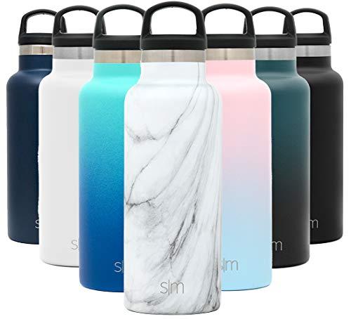Vaso Termico de Viaje Caf/é Termica para Llevar Acero Inoxidable Botella de Agua Dos Tonos: Luz de la Luna 16oz Voyager Termo Taza con Paja Simple Modern 470 ml